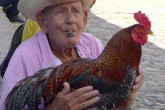 An old man with a cock.