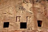Saudi Arabia Landscape, Liyanhite Lion Tomb Ruins, Al-Ula, Saudi Arabia